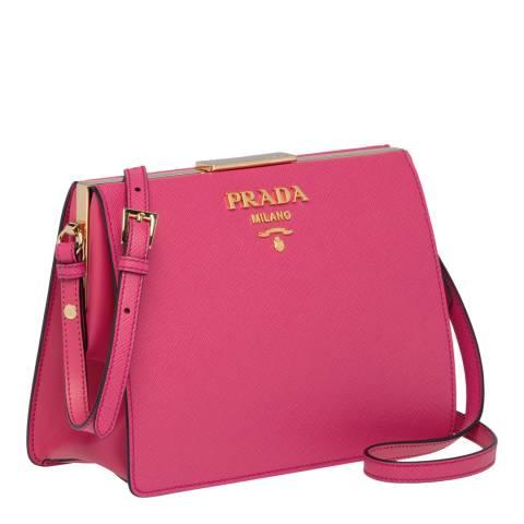 7564a5096f6f Pink Prada Leather Light Frame Shoulder Bag - BrandAlley