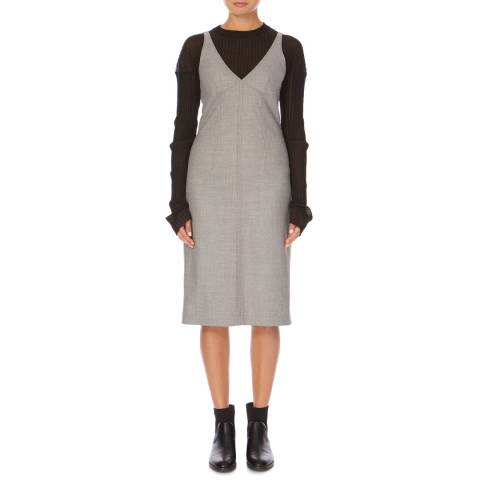 Joseph Grey Wool Gloria Flannel Dress