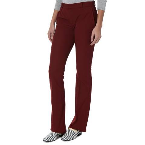 Joseph Oxblood Garbadine Cotton Stretch Trousers
