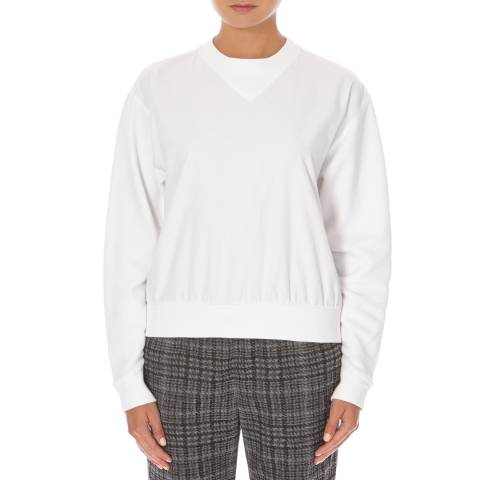Joseph White Cotton Sweatshirt