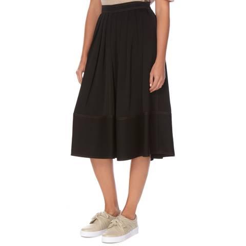 Joseph Black Grace Satin Stretch Skirt