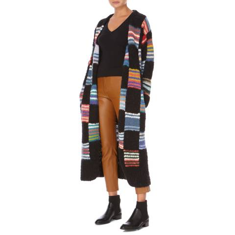 Joseph Multi Wool Intarisia Knitted Cardigan