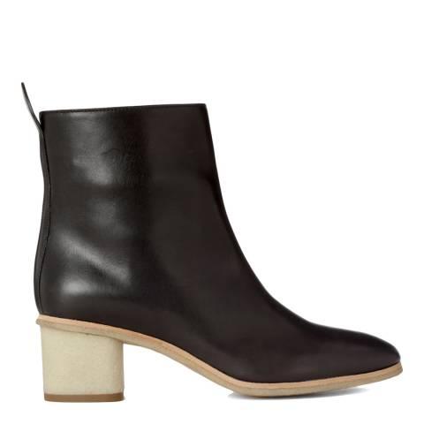 Joseph Black Leather Pump Ankle Boots