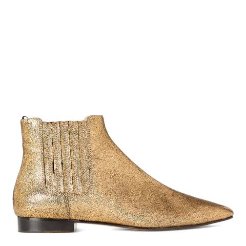 Joseph Gold Leather Star Boots