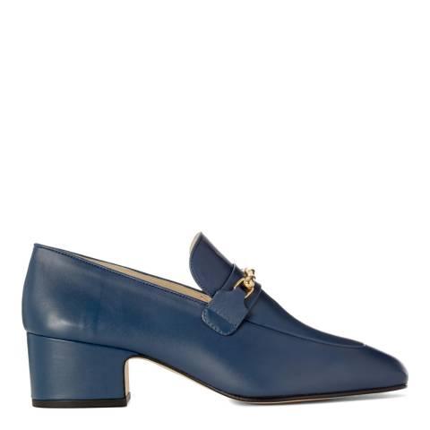 Joseph Blue Leather Mid Heel Loafers