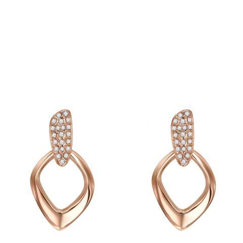 Lilly & Chloe Rose Gold Swarovski Elements Drop Earrings