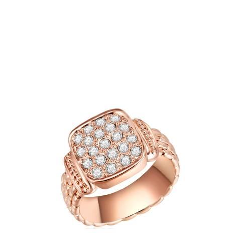 Lilly & Chloe Rose Gold Swarovski Crystal Elements Chunky Ring