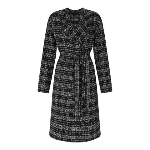 Baukjen Black/White Lanham Wrap Coat