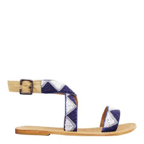 Aspiga Blue Chahana Flat Sandals