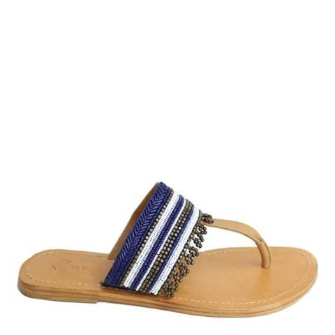 Aspiga Blue Monika Flat Sandals