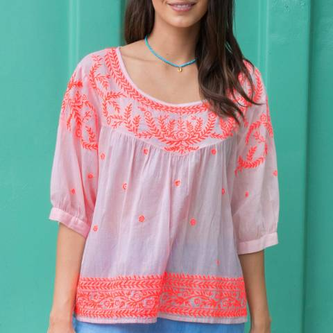 Aspiga Pink Elena Embroidered Blouse