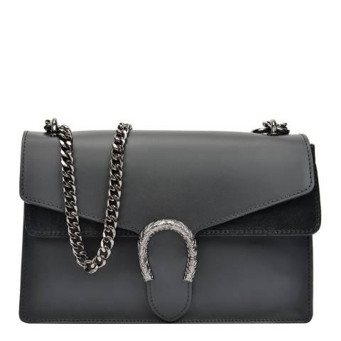 Isabella Rhea Black Leather Chain Shoulder Bag