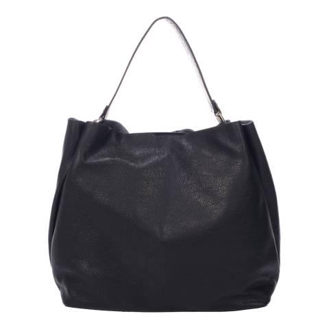 Massimo Castelli Black Leather Shoulder Bag