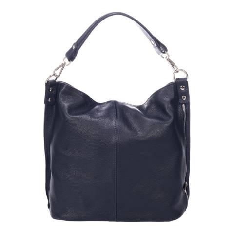 Massimo Castelli Navy Leather Shoulder Bag