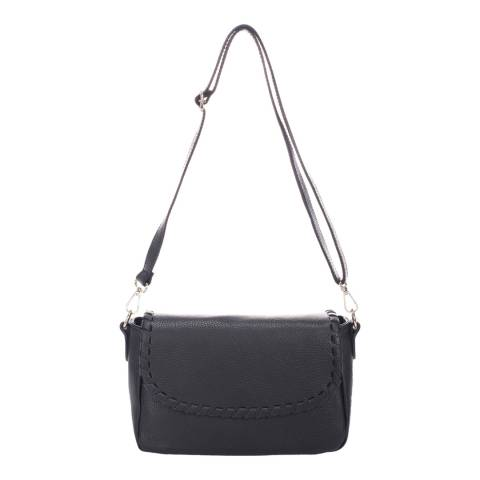 Massimo Castelli Black Leather Shoulder Bag