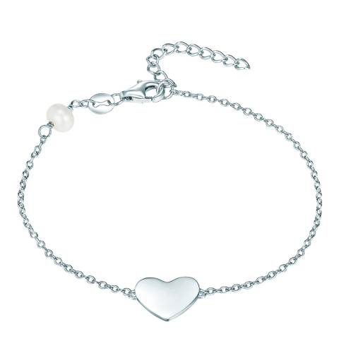 The Pacific Pearl Company Silver Heart Bracelet