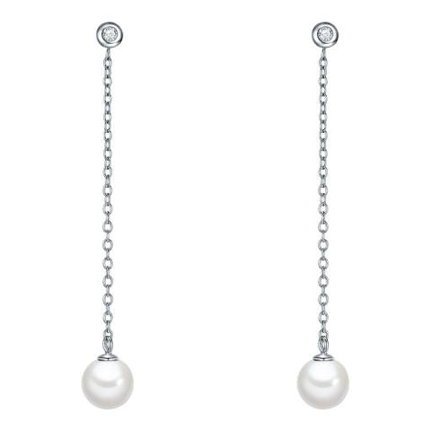 The Pacific Pearl Company Silver White Pearl Dangle Earrings