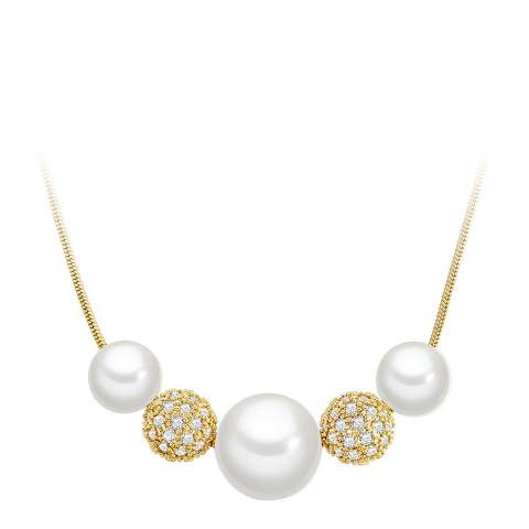 Pearls of London Yellow Gold White Pearl Necklace