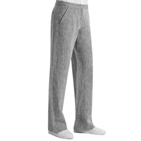 Great Plains Marble Grey Layla Linen Straight Leg Trousers