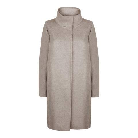 Jaeger Grey Wool Cocoon Coat