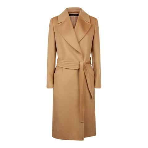 Jaeger Camel Wool Wrap Coat