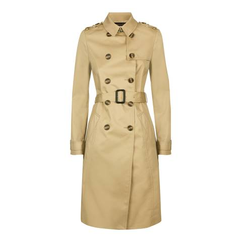 Jaeger Camel Cotton Blend Trench Coat