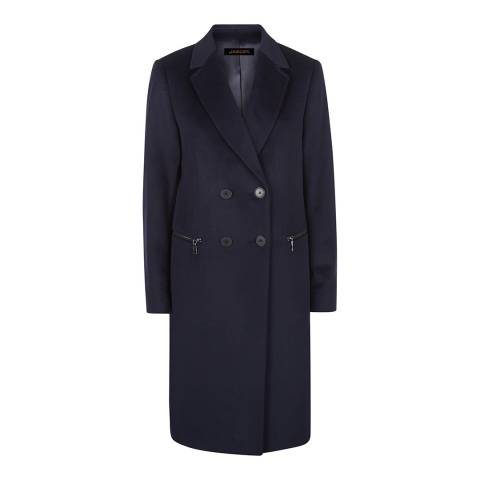 Jaeger Dark Blue Wool Double Breasted Coat