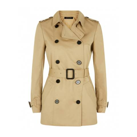Jaeger Camel Short Trench Coat