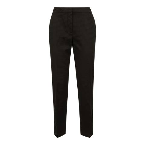 Jaeger Black Interest Slim Fit Cotton Stretch Trousers
