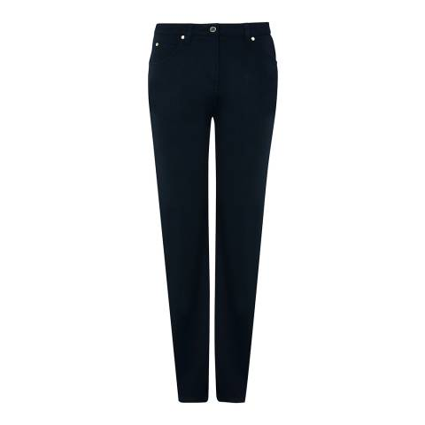 Jaeger Navy Blue Five Pocket Trousers