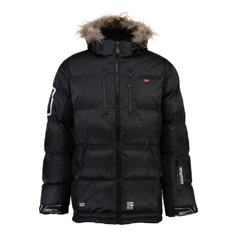 Geographical Norway Black Danone Parka
