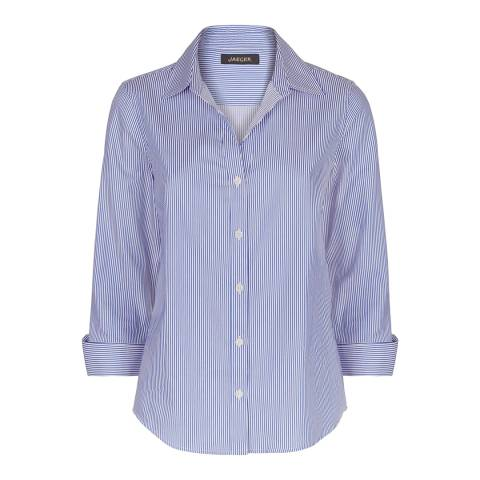 Jaeger Blue Stripe Cotton Shirt