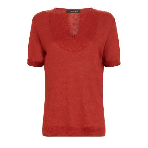 Jaeger Red Bib Yoke T Shirt
