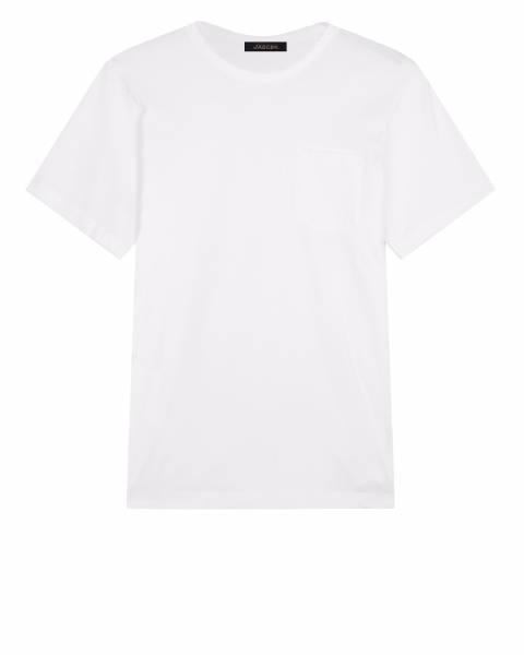 Jaeger White Pocket Cotton T Shirt