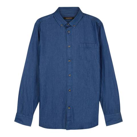 Jaeger Dark Blue Cotton Shirt
