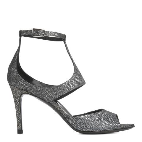 L K Bennett Anthracite Leather Delphia Sandal