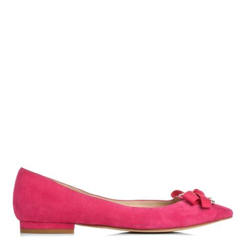 L K Bennett Pink Suede Pointed Flat Shoes