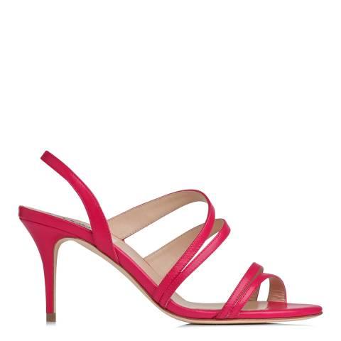 L K Bennett Pink Leather Addie Strappy Sandals