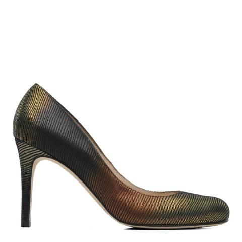 L K Bennett Metallic Round Toe Court Shoes