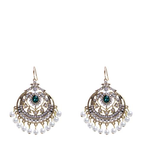 Amrita Singh Emerald/Gold Gayatri Earrings