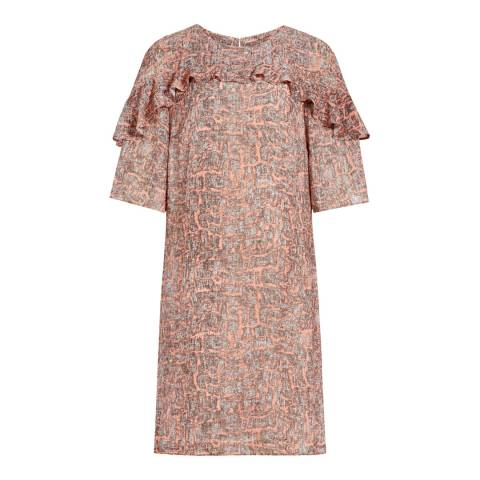 Reiss Coral Roxanne Printed Dress