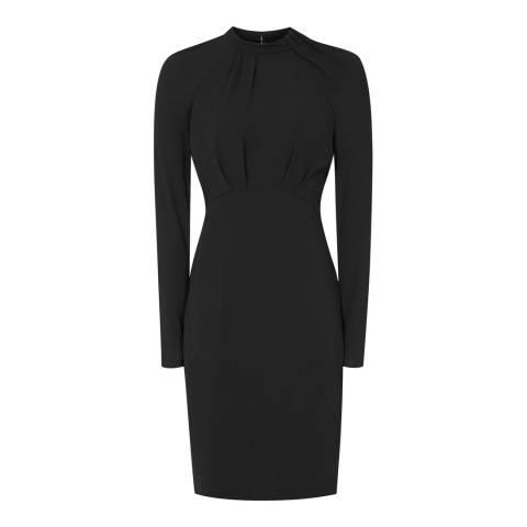 Reiss Black Irenina High Neck Dress