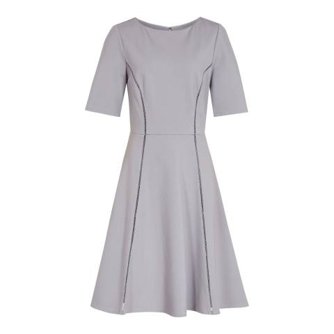 Reiss Chromatic Blue Tianna A Line Dress