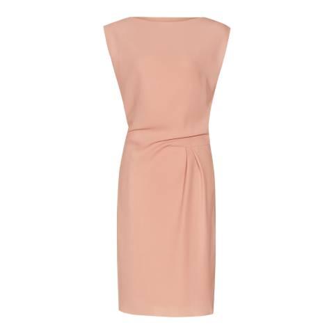 Reiss Pink Kier Draped Dress