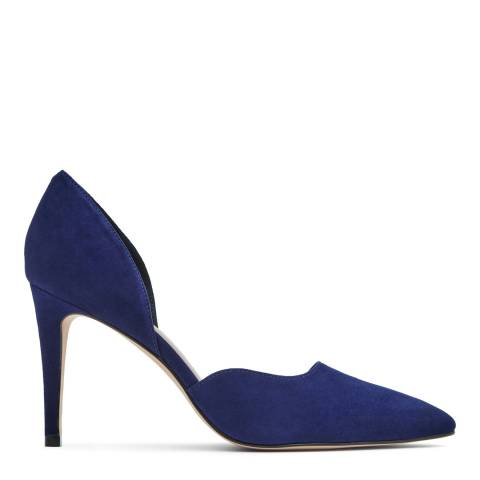 Reiss Royal Blue Lawrence Suede Court Shoes