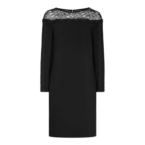 Reiss Black Claudia Lace Dress
