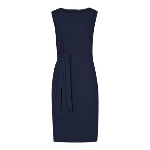 Reiss Navy Libra Slash Neck Day Dress