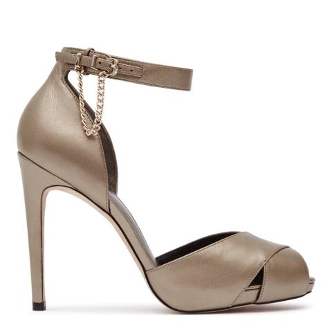 Reiss Metallic Leather Polden Chain Shoes