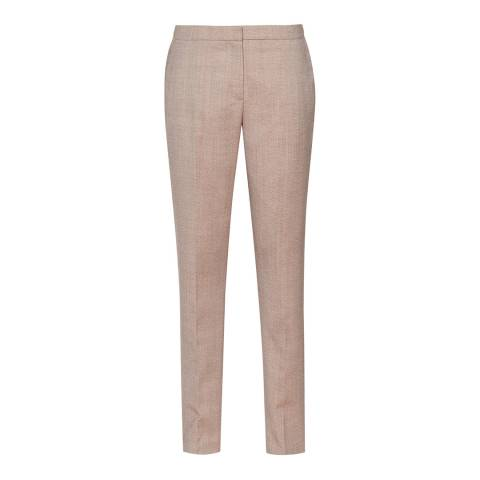 Reiss Burnt Rose Turner Tailored Wool Blend Trousers