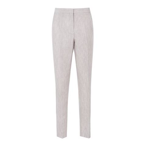 Reiss Peachy Grey Virginia Tailored Tailored Trousers